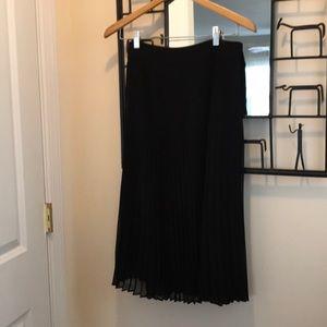 Sezane midi pleated skirt
